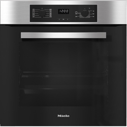 Picture of Miele H 2267 B Active Oven / 55.4 cm / Time of day display / Timer / Start-stop programming / Stainless steel / CLST