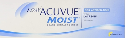 Picture of 1 Day Acuvue Moist for Astigmatism (30 lenses) Johnson & Johnson