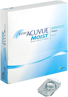 Picture of 1 Day Acuvue Moist for Astigmatism (360 lenses) Johnson & Johnson Yearly package