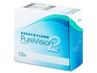 תמונה של עדשות מגע שבועיות Bausch & Lomb PureVision 2