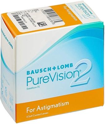 תמונה של עדשות מגע שבועיות Bausch & Lomb PureVision 2 HD for Astigmatism (6 pcs.)