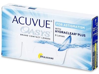 תמונה של עדשות מגע שבועיות Johnson & Johnson Acuvue Oasys for Astigmatism -with Hydraclear Plus Yearly supply