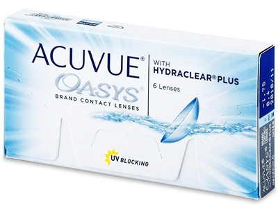 תמונה של עדשות מגע שבועיות Johnson & Johnson Acuvue Oasys with Hydraclear Plus