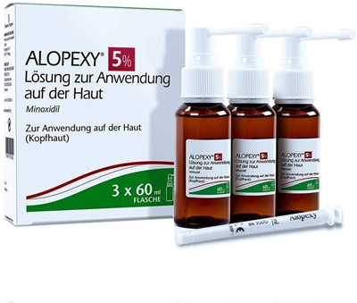 Picture of Alopexy 5%, 3x60 ml solution