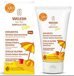 Picture of Weleda babyshampoo sunscreen children Sensitive without fragrance Stella Alpina SPF 50 + (50 ml)