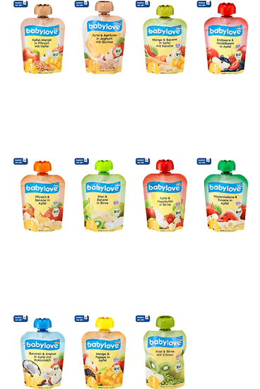 Picture of babylove Squeeze bag Fruit