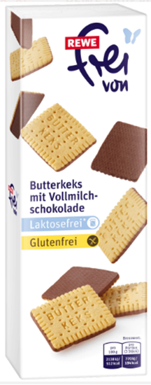 Picture of Gluten free butter cookies with chocolate
