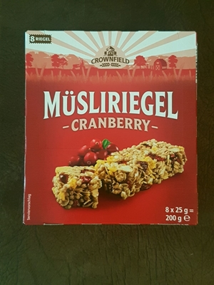 Picture of Granola Muesli bar with cranberry