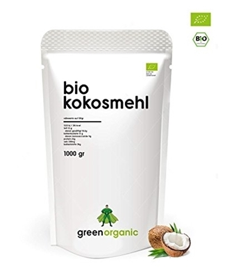 Picture of GreenOrganic: bio Coconut Flour, Low Carb Baking, Gluten Free, Vegan, 1kg