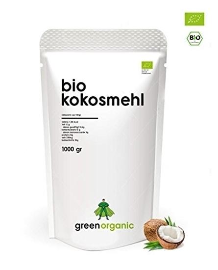 Picture of GreenOrganic: bio Coconut Flour, Low Carb Baking, Gluten Free, Vegan, 1kg