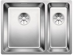 Picture of BLANCO Andano 340/180-IF stainless steel sink InFino silk gloss with pull knob 522976