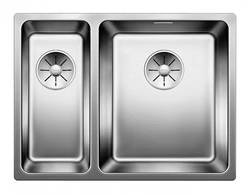 Picture of BLANCO Andano 340/180-IF stainless steel sink InFino silk gloss without pull knob 522973