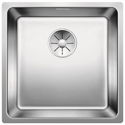Picture of BLANCO Andano 400-U stainless steel sink InFino silk gloss with pull knob 522960
