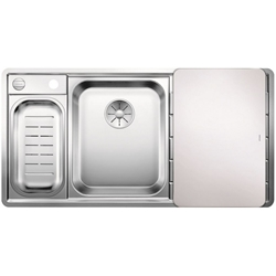 Picture of BLANCO AXIS III 6 S-IF stainless steel sink silk gloss left 522105