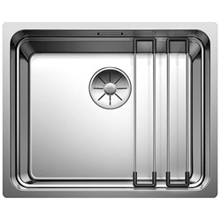 Picture of BLANCO Etagon 500-U stainless steel sink silk gloss with pull knob 521750