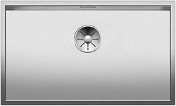 Picture of Blanco Zerox 700-IF Durinox, sink, kitchen sink, for normal and flush mounting, zero radius design, InFino spout, Durinox stainless steel; 523099