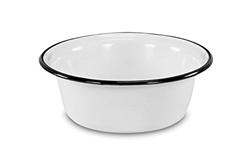 Picture of Krüger enameled bowl, enamel, white 28 cm