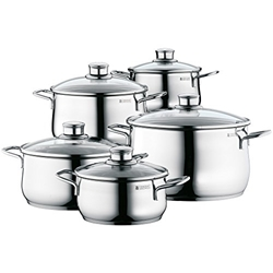 Picture of WMF 5 piece pots and pans cookware stainless steel provence plus induction