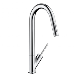 Picture of AXOR Starck single lever kitchen mixer 270 with pull-out spray, chrome