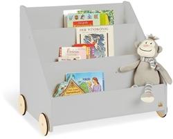 תמונה של כוננית ספרים לילדים , צבע אפור Pinolino