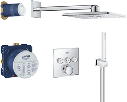 Picture of Grohe Grohtherm SmartControl | Shower and Shower Systems - Shower System | Flush-mounted system with Rainshower 310 Smartactive overhead shower | 34706000