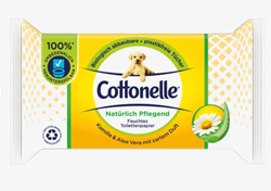 Picture of Cottonelle Moist toilet paper naturally nourishing, 40 pcs