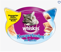 Picture of Snack for cats, crispy bags with salmon, 60 g