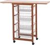 Picture of Arredamenti Italia 518 GASTONCINO Kitchen Trolley Beech Wood Cherry 48 x 88 x 34 cm