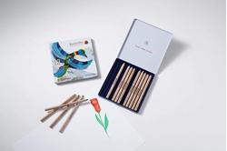 תמונה של 12 עפרונות משולשים צבעוניים