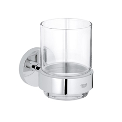 Picture of Grohe Essentials, BADACCESSOIRES - Glass with Holder, 40447001