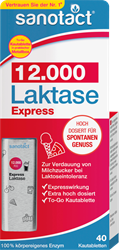 Picture of sanotact Express lactase 12,000 chewable tablets, 40 pieces, 18 g