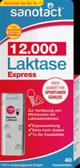 תמונה של sanotact אקספרס לקטאז 12,000 טבליות לעיסה, 40 חתיכות, 18 גרם
