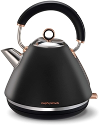 Picture of Morphy Richards Black Kettle with Rose
