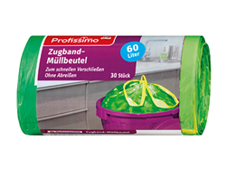 Picture of Profissimo Garbage bags with drawstring 60 l, 30 pcs