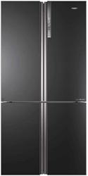 Picture of Haier HTF-610DSN7 French Door fridge / freezer combination black inox