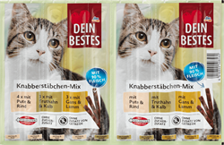 Picture of Snack for cats, nibble-stick mix, with 90% meat, 50 g