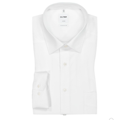 Picture of Olymp Luxor comfort fit shirt, non-iron, white, Size: 49