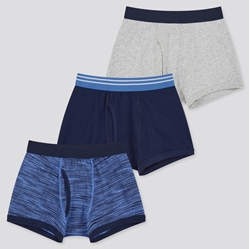 Picture of UNIQLO BOYS PATTERNED UNDERPANTS (3 PIECES), Blue
