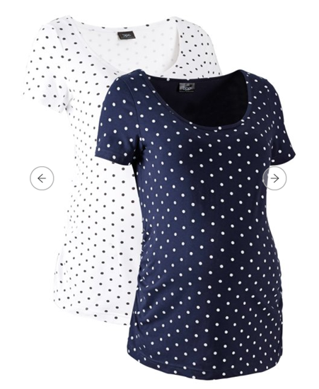 Picture of Bonprix Maternity shirt, 2-pack, made from organic cotton
