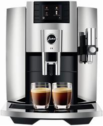 תמונה של מכונת קפה אוטומטית לחלוטין, צבע כרום JURA E8 (EB)