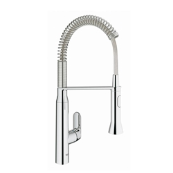 Picture of Grohe K7 kitchen faucet 31379000 chrome, swivel spout, professional shower head