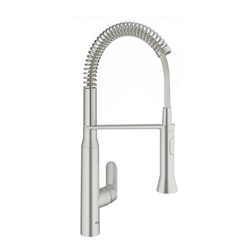 Picture of Grohe K7 kitchen faucet 31379DCO supersteel, swivel spout, professional shower head