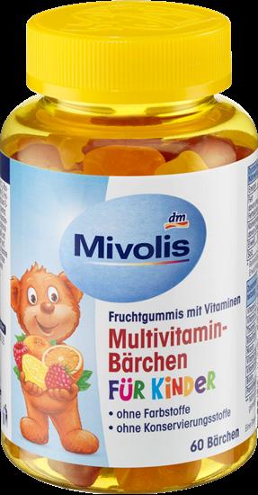 תמונה של דובי מולטי ויטמין לילדים, מסטיקים של פירות, 60 חתיכות, 120 גרם Mivolis