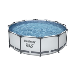 """Picture of Bestway Steel Pro frame pool set """"Max"""", Ø366x100 cm, incl. Ladder, gray"""