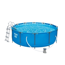 Picture of Bestway tubular steel pool Ø366x100 cm, including filter system and ladder