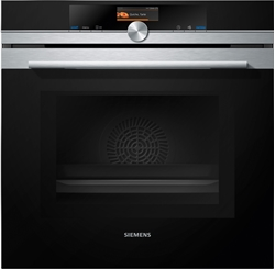 Picture of Siemens iQ700 HM676G0S6 oven with microwave, 67 l, automatic self-cleaning, TFT touch display