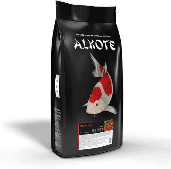 Picture of AL-KO-TE, 1 Season Koi & Ornamental Fish Summer Month Floating Pellets 6mm Multi Mix Main Food 9kg