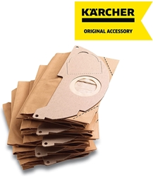 Picture of Kärcher - 5 x Filter Paper Bags for Water and Dust Vacuum Cleaner - Compatible with: A2000 to A2099 and WD2.000 to WD2.399 - Ref 6.904 - 322.0, 69043220