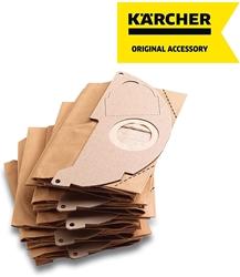 Изображение Kärcher - 5 фильтровальных бумажных пакетов для пылесоса для воды и пыли - Совместимость с: A2000 - A2099 и WD2.000 - WD2.399 - Ref 6.904 - 322.0, 69043220