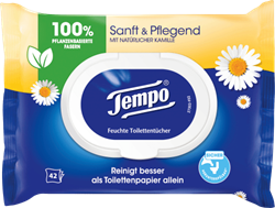 Picture of tempo Moist toilet paper, gentle & caring, 42 pcs
